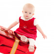 Stock Photo: Little christmas baby-girl