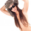 Royalty-Free Stock Photo: Woman in fur hat
