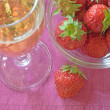 Strawberry and champagne — Foto Stock