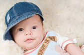 Trendy newborn boy — Stock Photo