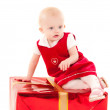 Little christmas baby-girl — Stock Photo