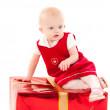 Little christmas baby-girl — Stock Photo #1131287