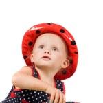 Little girl in studio — Stock Photo