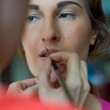 Royalty-Free Stock Photo: Applying makeup