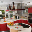 Red modern kitchen — Stock Photo #1142577