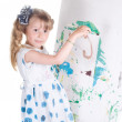 Little girl painting — Stock Photo #1142901