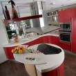 Red modern kitchen — Stock Photo #1143554