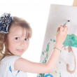 Royalty-Free Stock Photo: Little girl painting