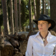 Woman-cowboy — Stock Photo #1143800