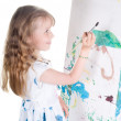 Little girl painting — Stock Photo #1145193