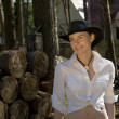 Woman-cowboy - Stock Photo