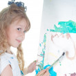 Little girl painting — Stock Photo #1147048