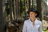 Woman-cowboy — Stock Photo