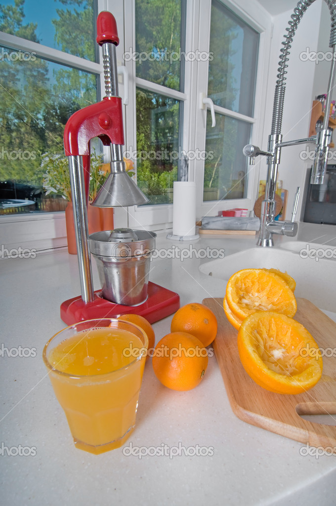 Shot of juicer and oranges on the kitchen  Stock Photo #1146527