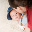 Trendy newborn boy — Stock Photo #1271380