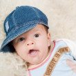 Trendy newborn boy — Stock Photo #1326844