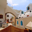 Santorini beautiful buildings — Stock Photo