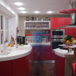 Red kitchen - Stock Photo