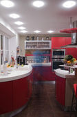 Red kitchen — Stock Photo