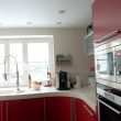 Red modern kitchen. — Stock Photo #1710131