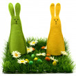 Stock Photo: Easter bunnies
