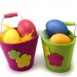 Easter pails — Stock Photo