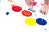 Colored paints — Stock Photo