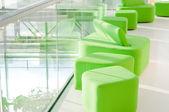 Green armchair — Stockfoto