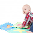 Little boy in studio — Stock Photo