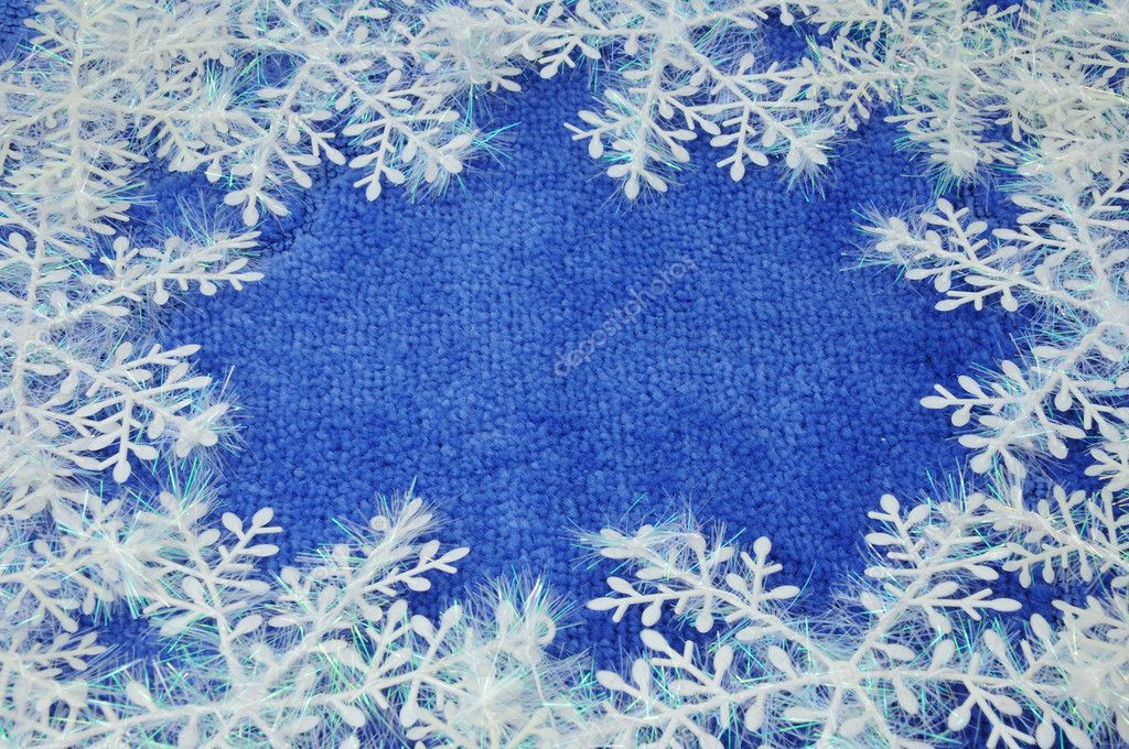 Snowflake on blue background  Stock Photo #1361103