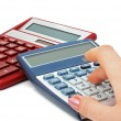 Two calculators — Stock Photo
