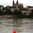 Basel and Rhine - Stock Photo