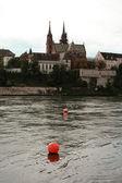 Basel and Rhine — Stock Photo