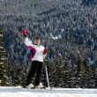 Skier.Ski resort Madonna di Campiglio. I - Stock Photo