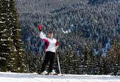 Skier.Ski resort Madonna di Campiglio. I — Stock Photo