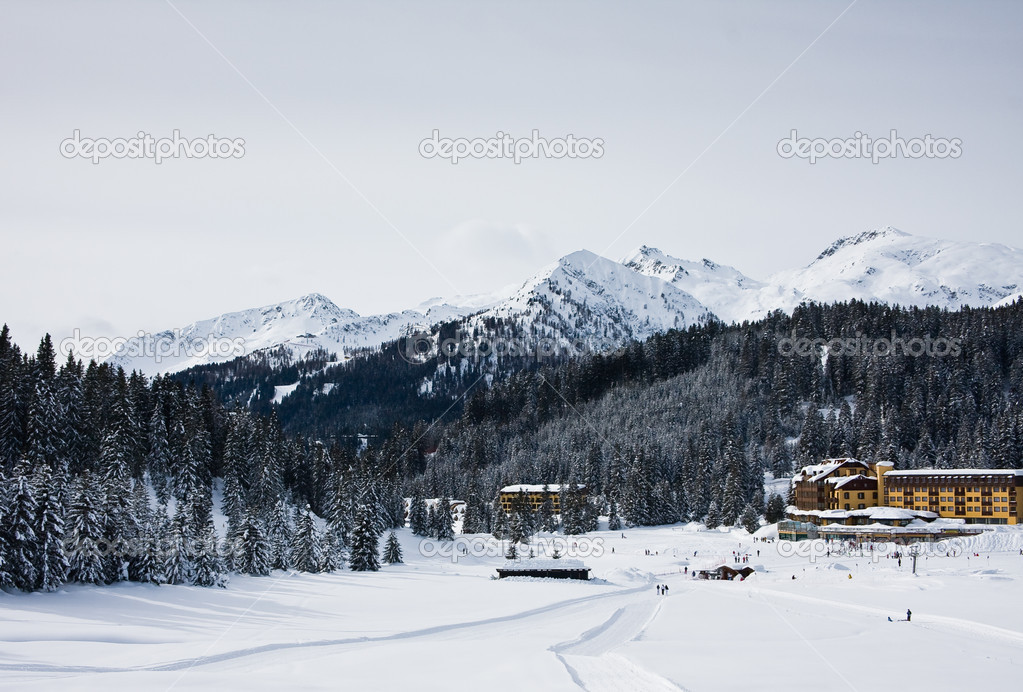 Ski resort Madonna di Campiglio. Italy   — Stock Photo #1223958