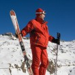 Stock Photo: Skier and mountain