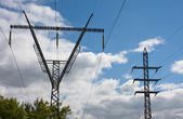 Power transmission Transmission Towers — Stock Photo