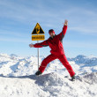 Safety in mountains - Stock Photo