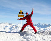 Safety in mountains — Stock Photo