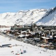 Stock Photo: Ski resort Tignes. France