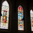 Church stained glass window — Stock Photo
