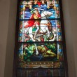 Church stained glass window — Stock fotografie