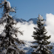High mountains under snow in the winter — Stock Photo #1471722
