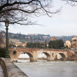 Verona historic center cityscape — Stock Photo