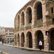 Details amphitheatre Arena in Verona — Stock Photo