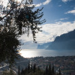 Lake Garda and city  Naga-Torbole. Italy — Stock Photo
