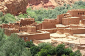 Moroccan village in the mountains — Stock Photo