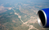 View from airplane — Stock Photo
