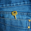Key in jeans - Stock Photo